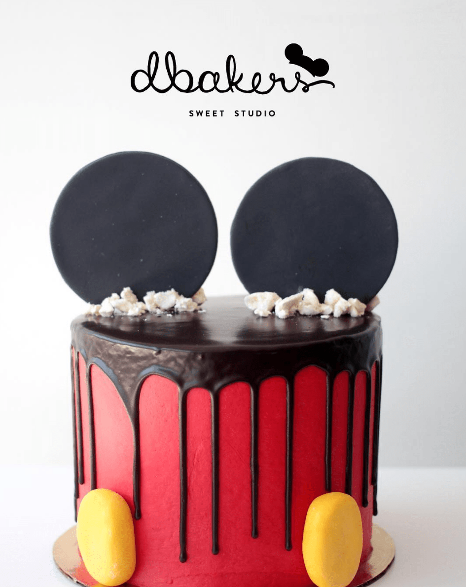 how to make a disney drip cake with mouse ears