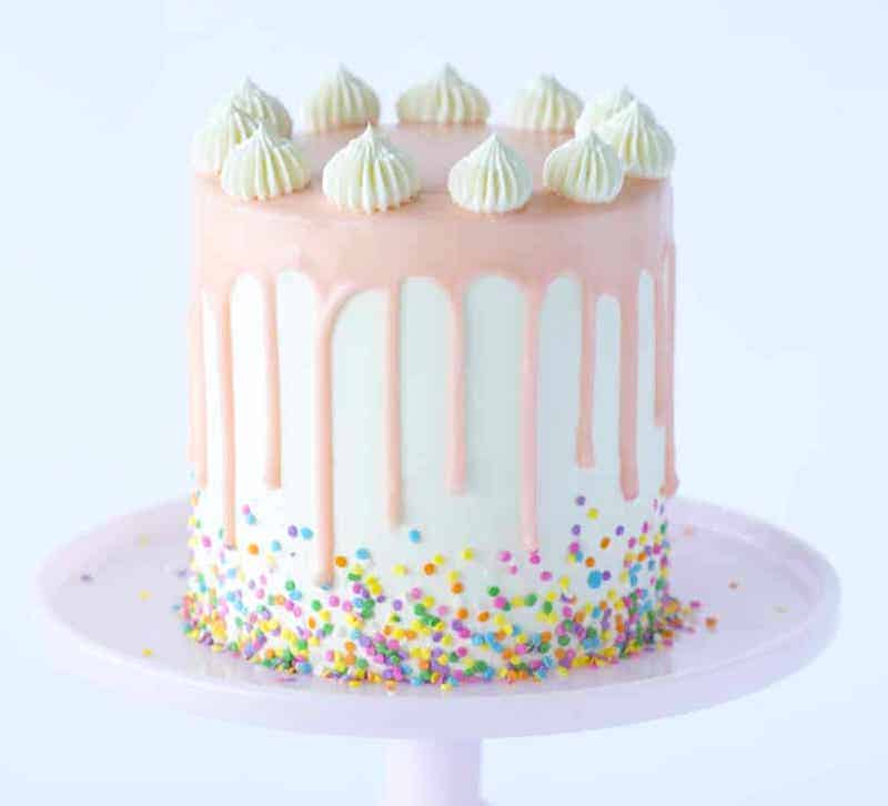 how to make a drip cake with funfetti