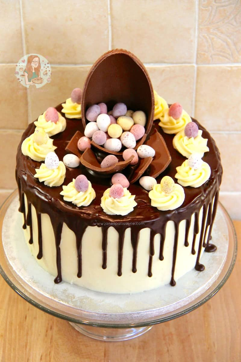 how to make a drip cake for easter