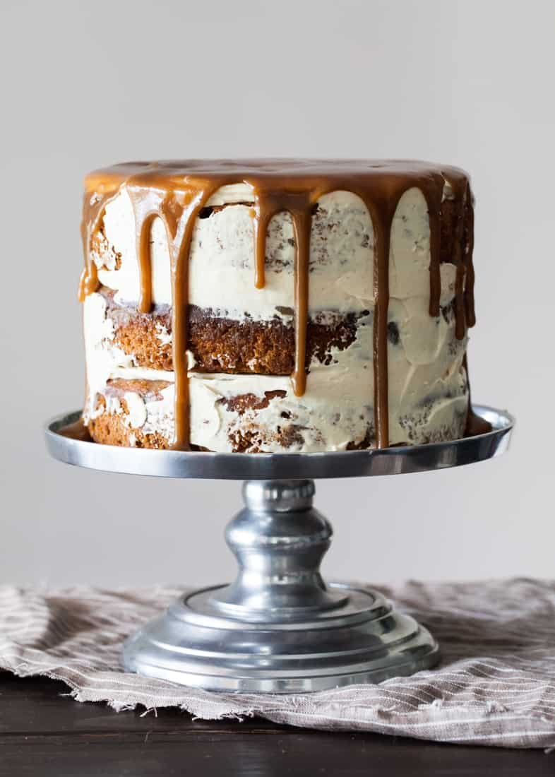 how to make a drip cake with sticky toffee pudding