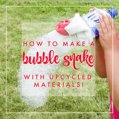 Bubble Snakes: How to Make a Sock Bubble Blower