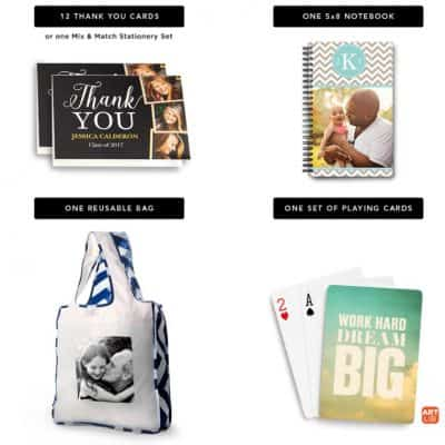 Shutterfly Choose Any Two for Free: Notepad, Thank You Cards, Reusable Bag, or Playing Cards!