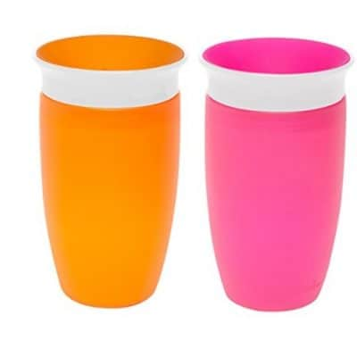 Munchkin Miracle 360 Sippy Cup, Pink/Orange, 10 Ounce, 2 Count only $5.79, Free Shipping Eligible!