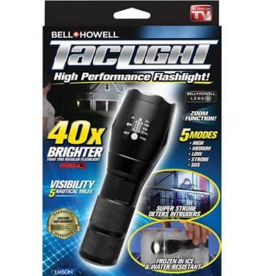 Taclight High-Powered Tactical Flashlight with 5 Modes & Zoom Function only $13.79, Free Shipping Eligible!