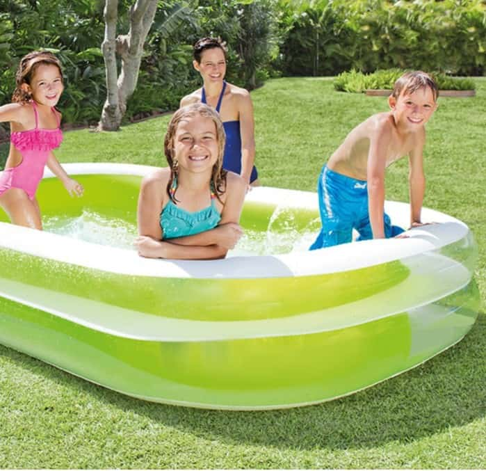 Intex swim center family inflatable pool only 25 free shipping eligible for Intex swim centre family lounge pool cover