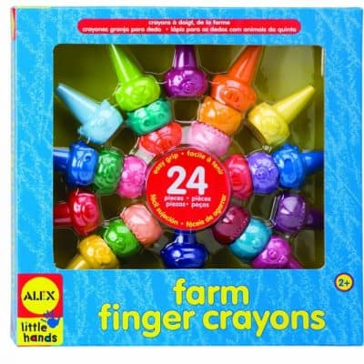 Save 53% on the ALEX Toys Little Hands Farm Finger Crayons, Free Shipping Eligible!