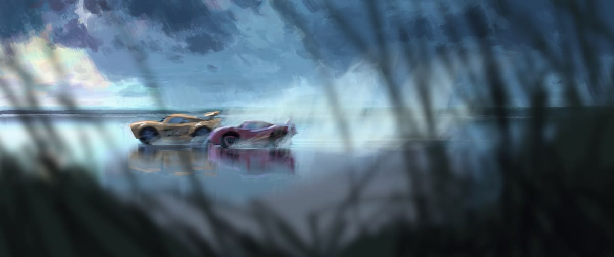 cars 3 concept art beach race