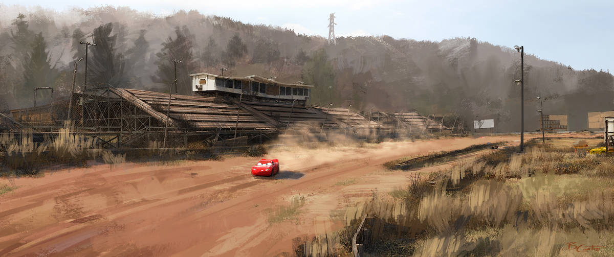 cars 3 concept art racetrack
