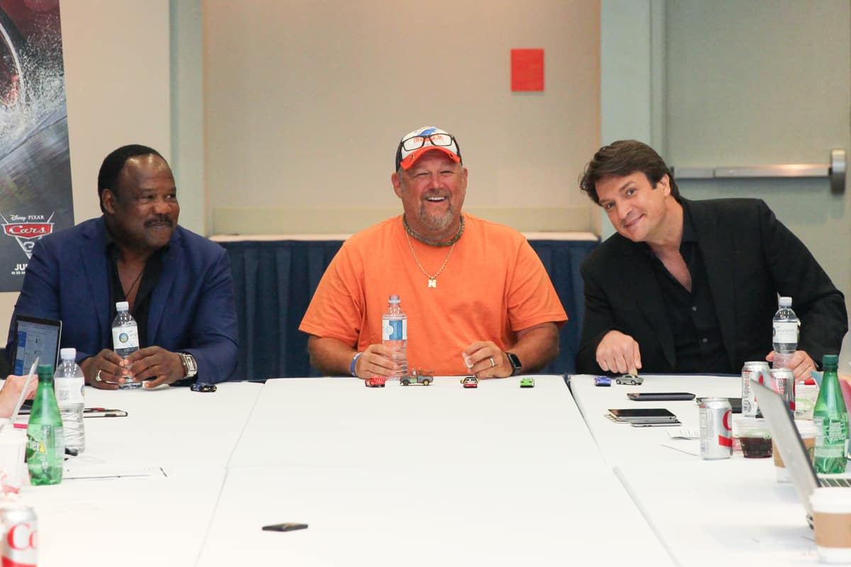 cars 3 interview isiah whitlock jr larry the cable guy nathan fillion