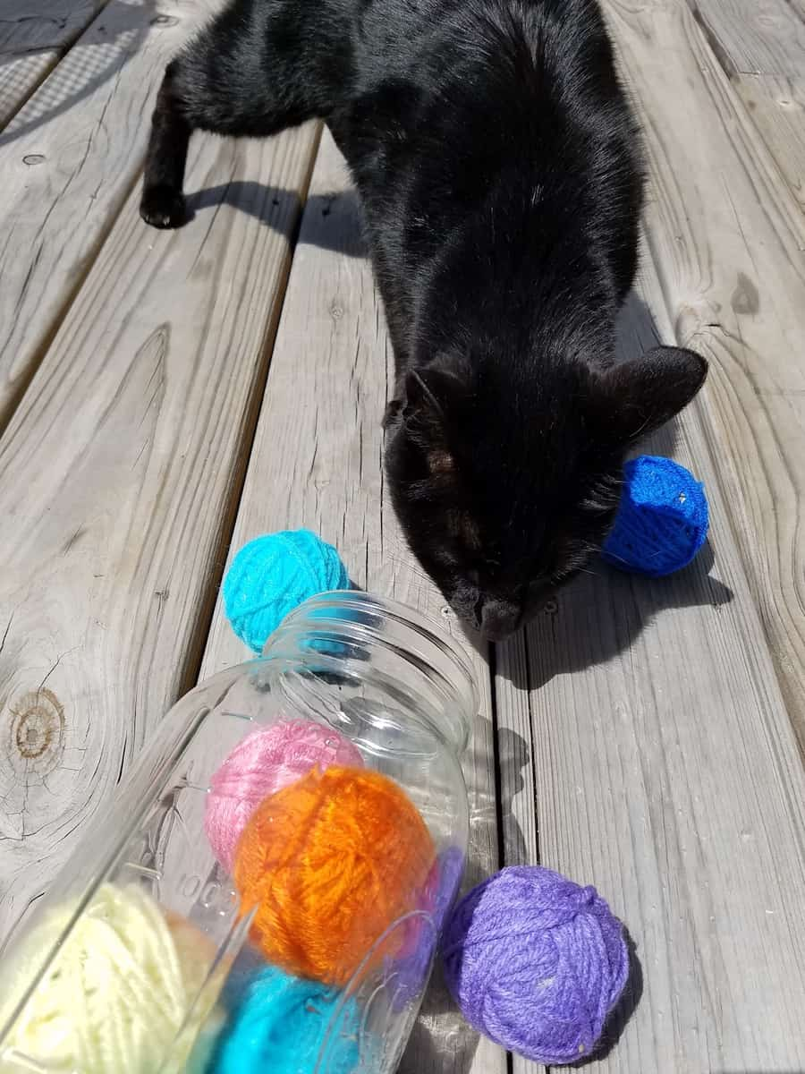 homemade yarn ball