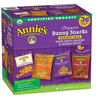 Annie's Bunny Snacks Variety Pack {36 Packs} only $7.59, Free Shipping Eligible!