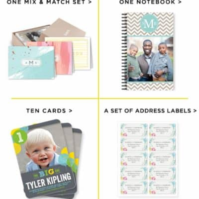 Shutterfly Choose Up To Two for Free: Notecards, Notebook or Address Labels!