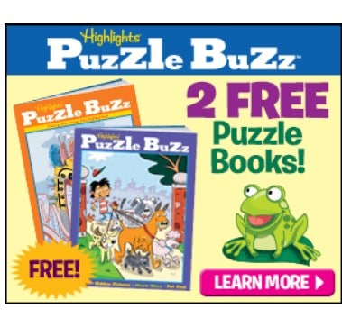 2 Free Highlights Puzzle Buzz Puzzle Books + Free Tote Bag!
