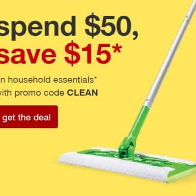 Target Online Deal: Spend $50, Save $15 on Household Essentials!