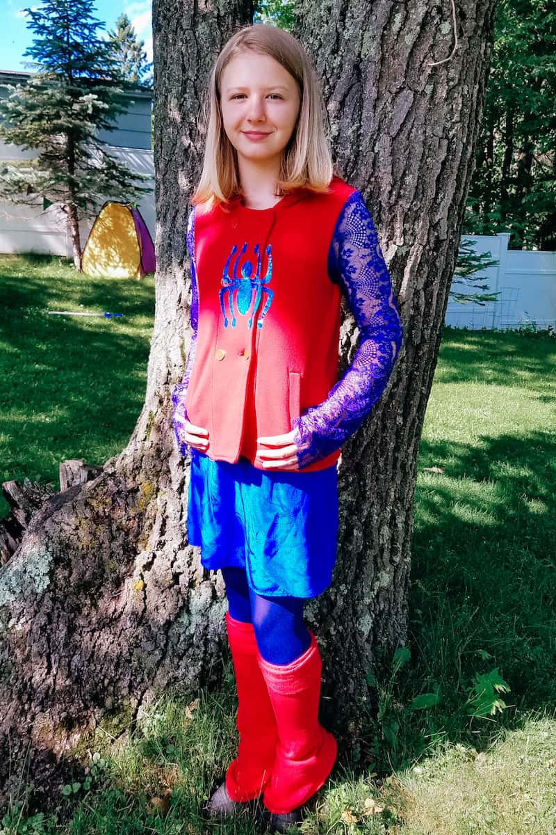 homemade spider-man costume for girls
