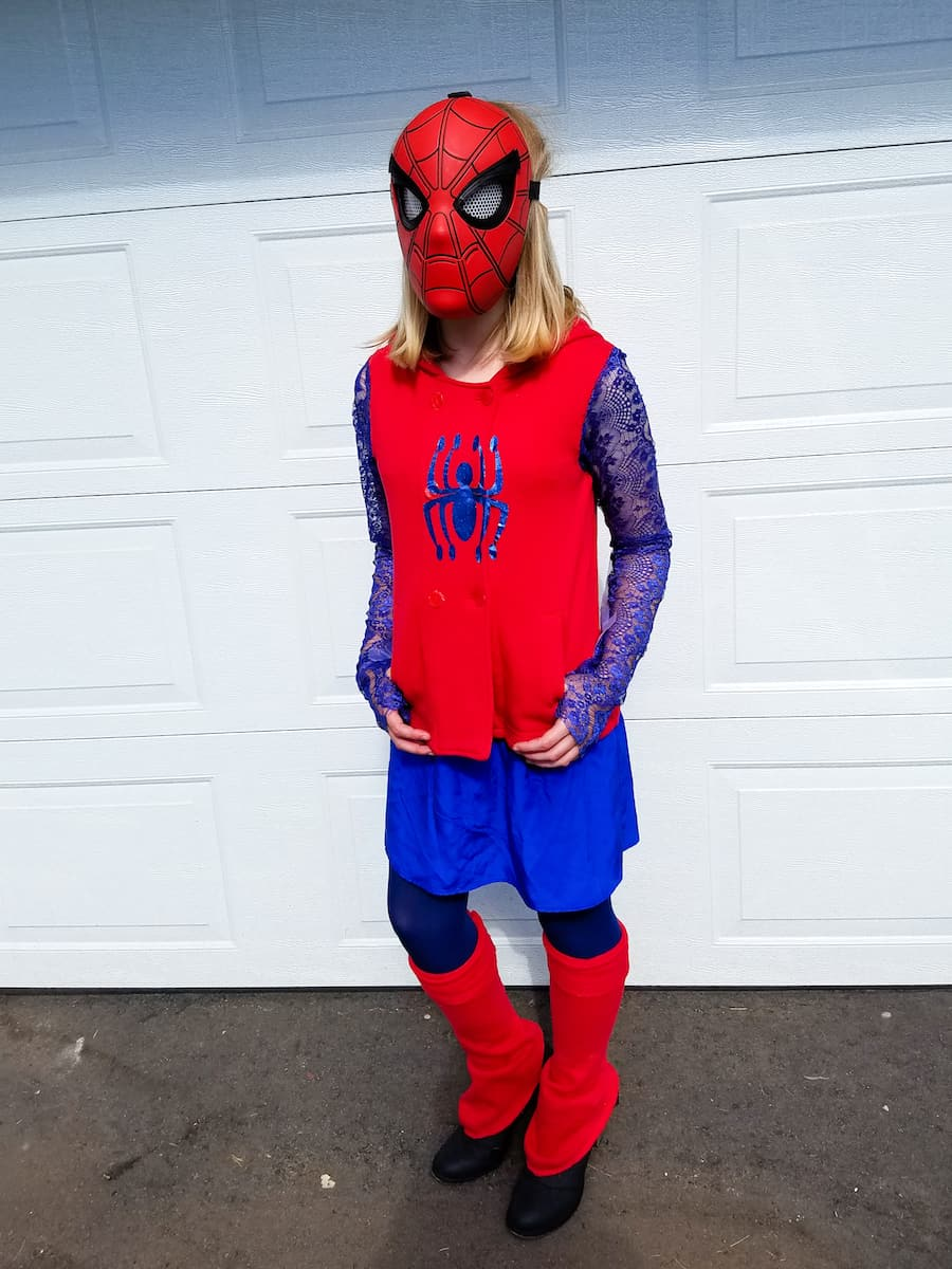 how to make a diy spiderman costume for girls