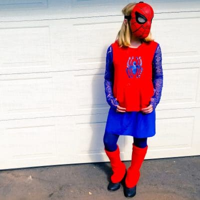 DIY: How to Make a Spider-Man Costume for Girls for #SpiderManHomecoming #SpideyBloggers