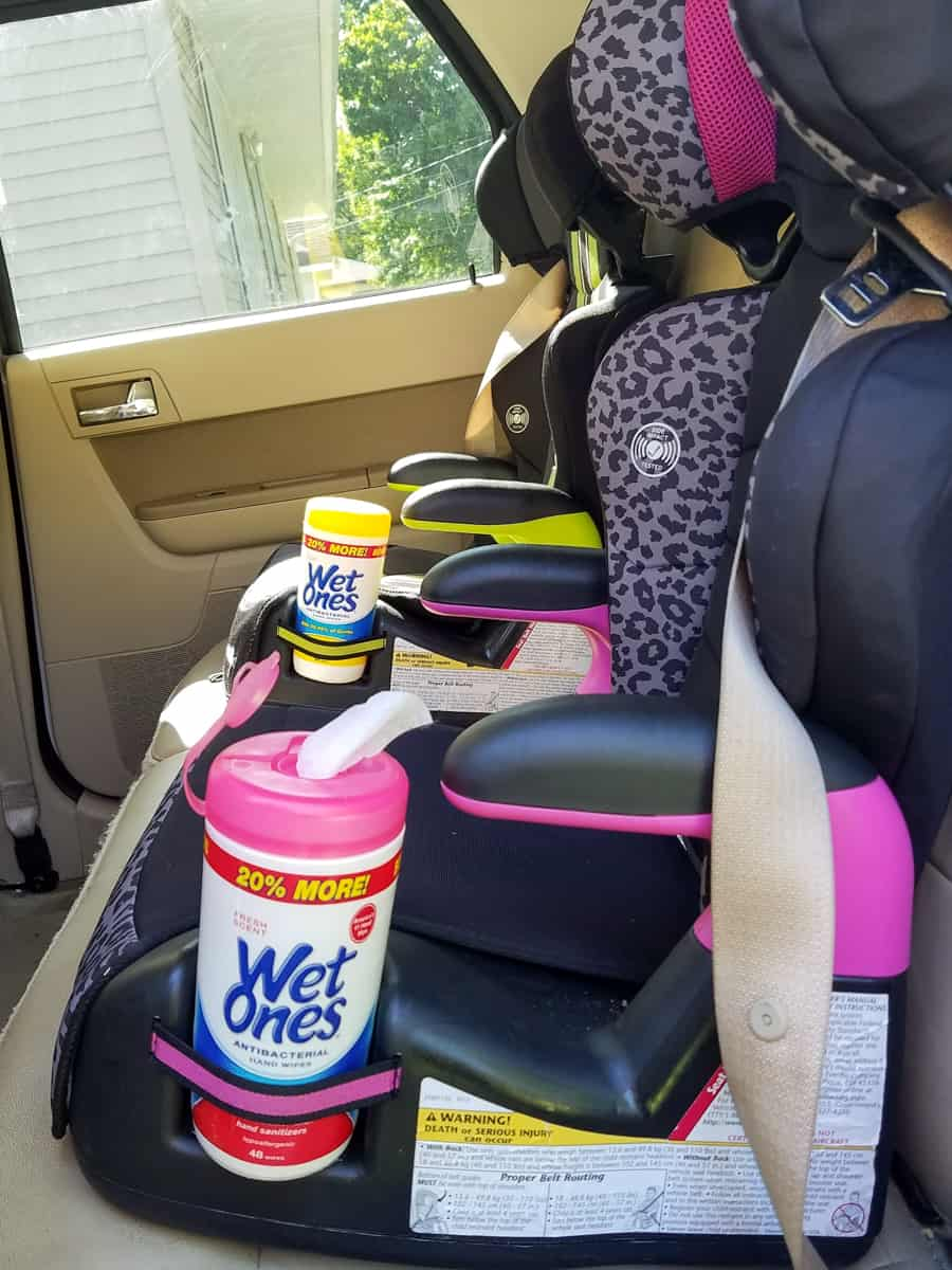 how to stay clean on a road trip