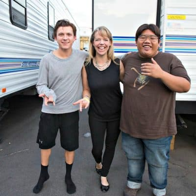spider-man homecoming interview tom holland jacob batalon set visit
