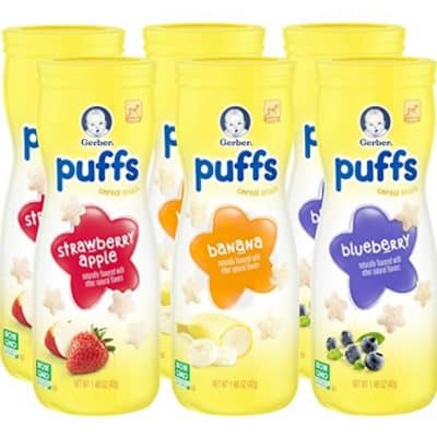 Gerber Graduates Puffs Cereal Snack 6 Count only $6.82 + Free Shipping!