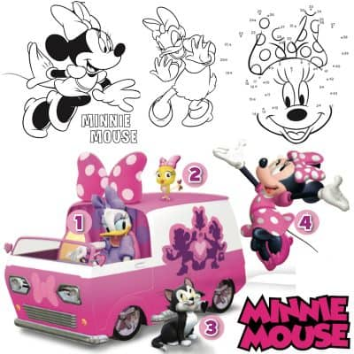 Minnie Mouse Printable Coloring Pages and Activity Sheets