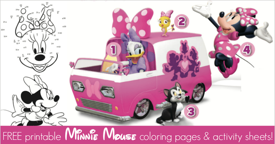 minnie mouse coloring pages activity sheets for minnies happy helpers - Free Printable Minnie Mouse Coloring Pages