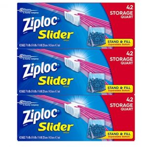 Ziploc Quart Slider Storage Bags, 126 Count only $6.73, Free Shipping Eligible!