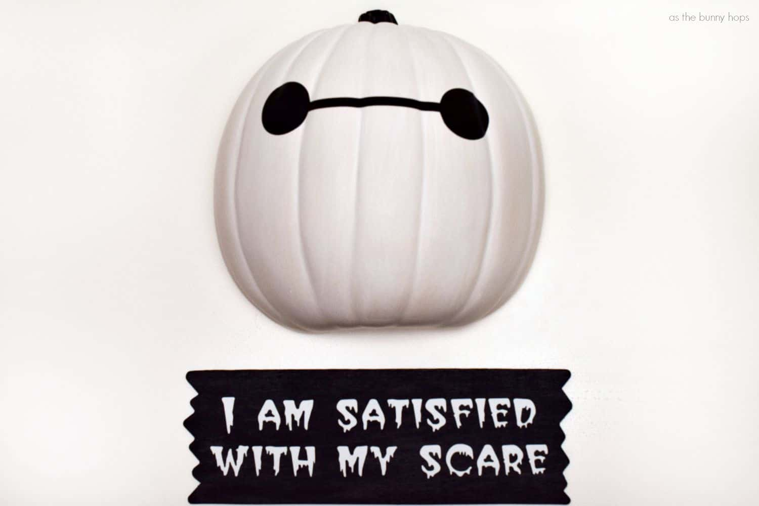 Disney painted pumpkin idea baymax big hero 6