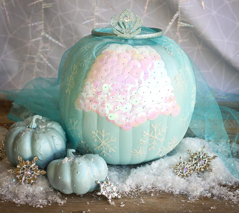 Disney painted pumpkin ideas Elsa Frozen