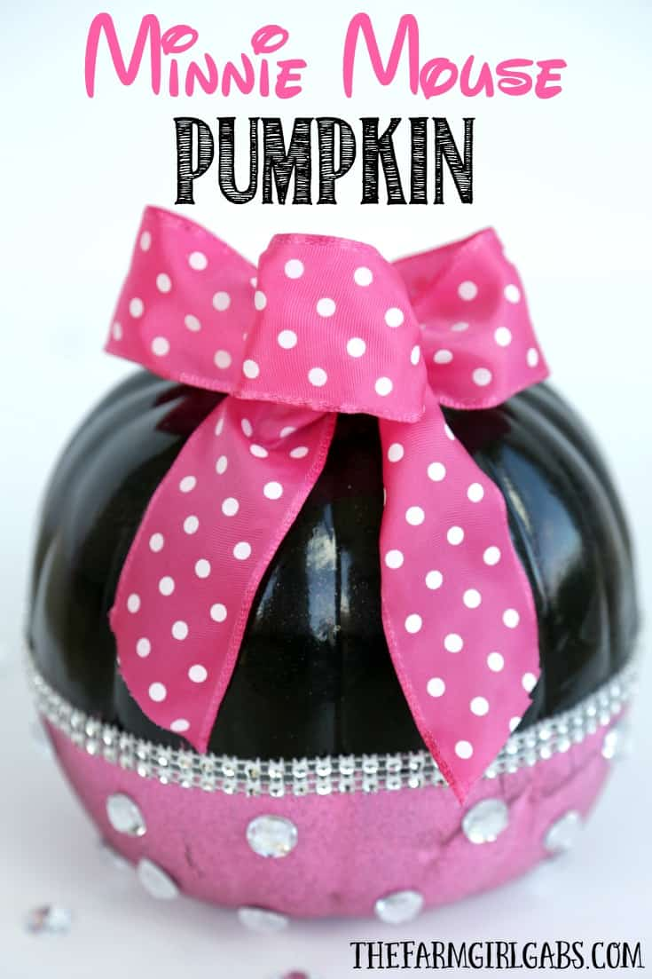 Disney painted pumpkins Minnie Mouse