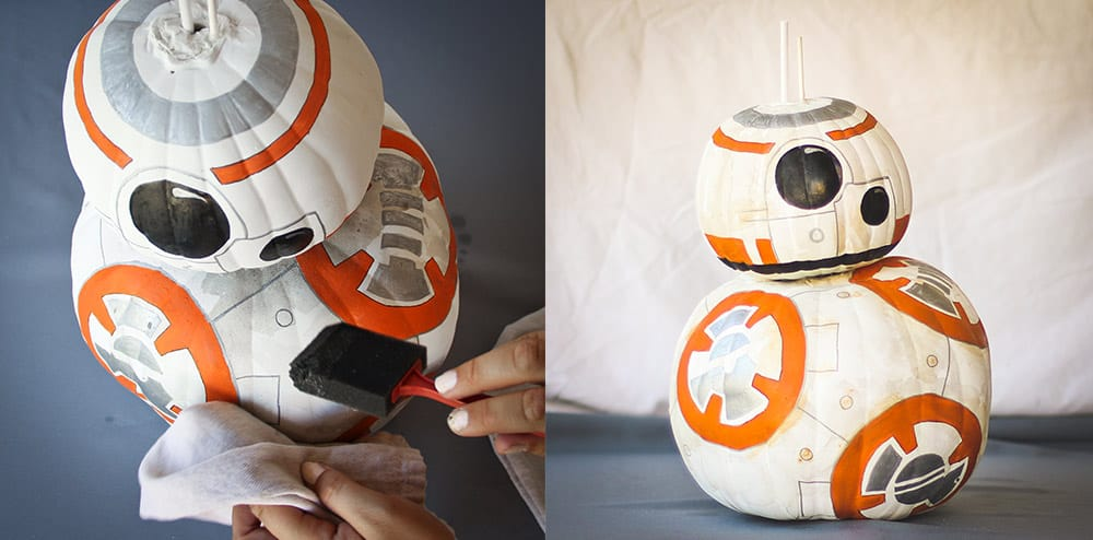 disney painted pumpkins star wars