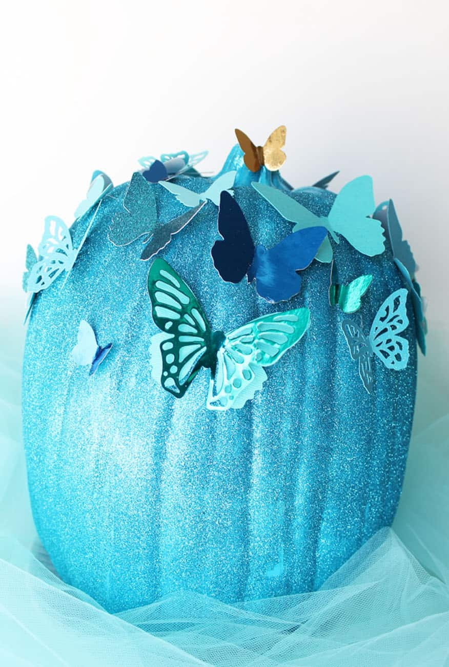 Disney painted pumpkin ideas Cinderella butterflies