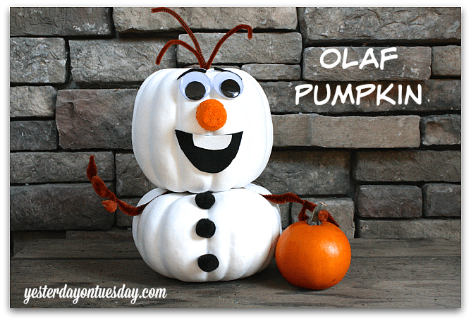 disney painted pumpkins olaf frozen
