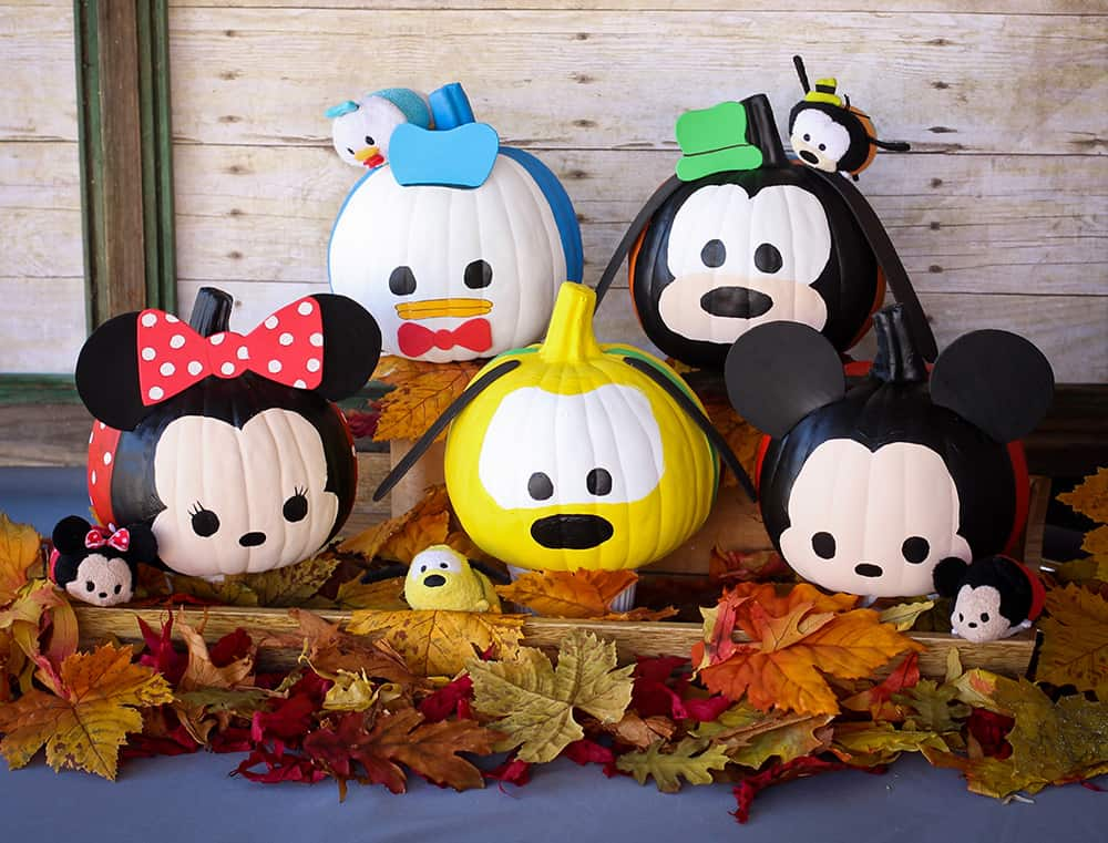 Disney painted pumpkin ideas tsum tsums