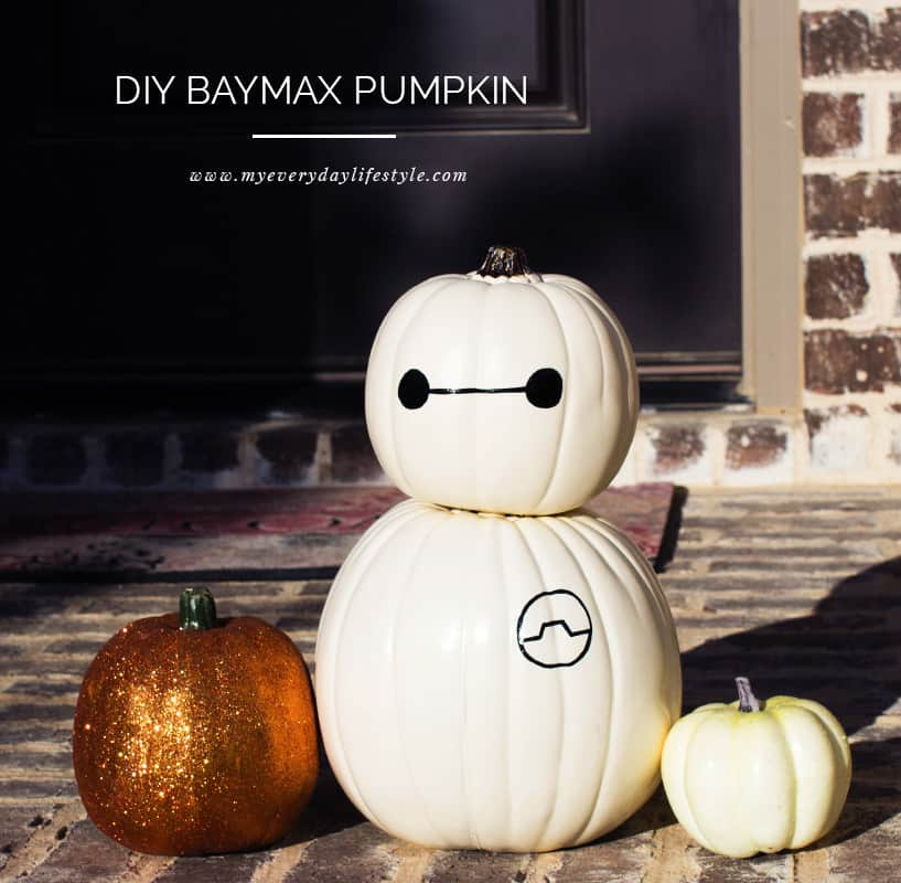 Disney painted pumpkin ideas Big Hero 6 Baymax