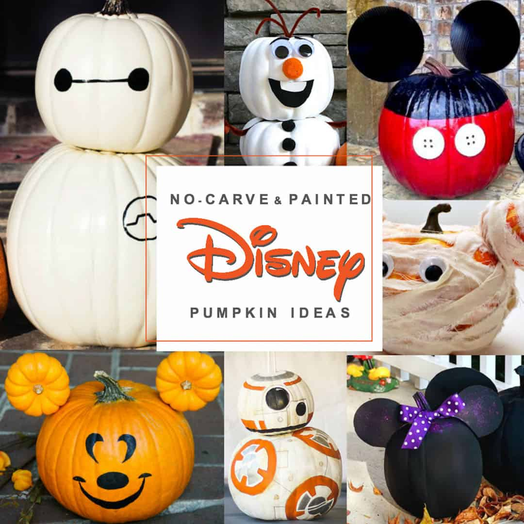 disney painted pumpkins over 45 no carve disney pumpkin ideas
