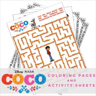 New Disney-Pixar's Coco Coloring Pages and Activity Sheets! #PixarCoco