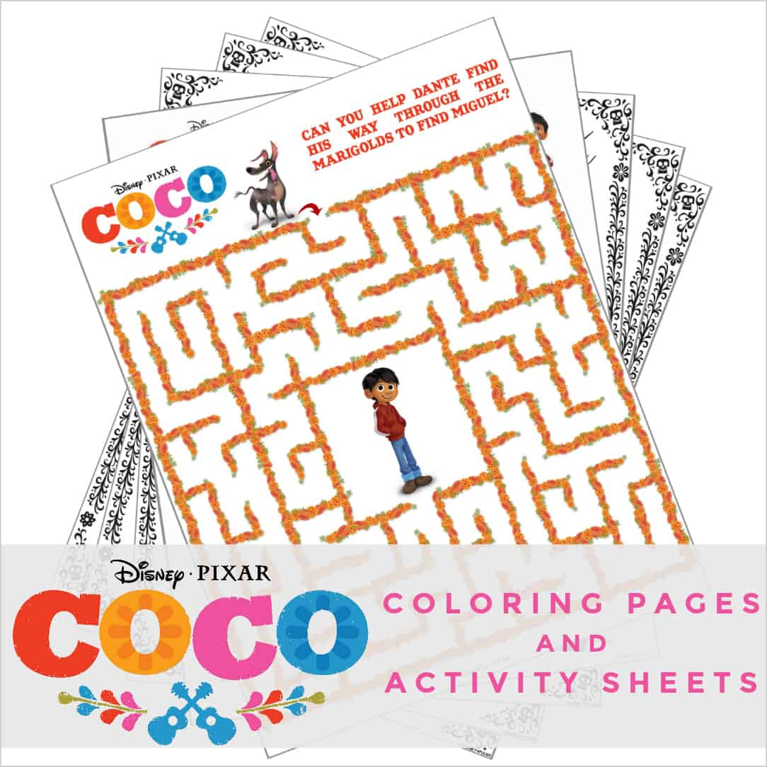 Disney Pixars Coco Coloring Pages And Activity Sheets
