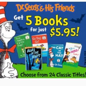 5 Classic Dr. Seuss Books just $5.95 + FREE Activity Book, FREE Shipping!
