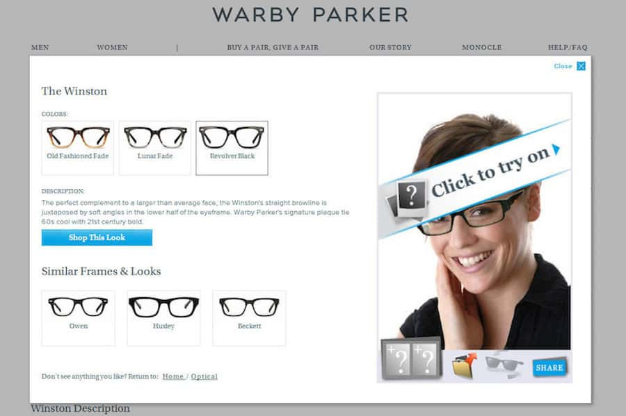 e0503a0d87 The Warby Parker Virtual Try On is Amazingly Effective and SO MUCH FUN!