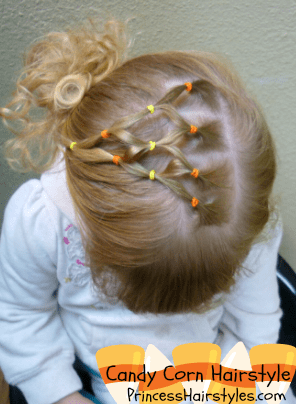 Halloween hairstyles Candy Corn