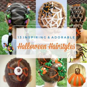 The Best Cute Halloween Hairstyles – Great For Crazy Hair Days!