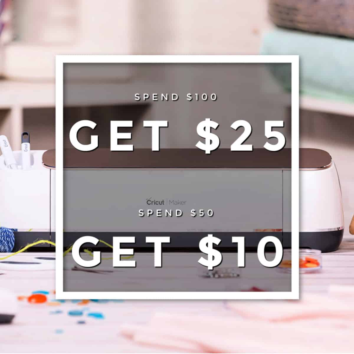 Cricut cyber monday and black friday coupon offer