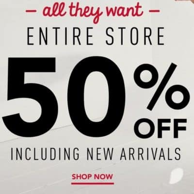 Gymboree Online Sale: Entire Site 50% off (or More!) + FREE Shipping!