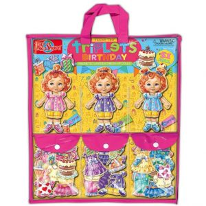 Save 58% on the Teeny Tiny Triplets Birthday Wooden Magnetic Dress-Up Dolls, Free Shipping Eligible!