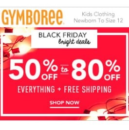 Gymboree Black Friday Sale: Entire Site 50-80% off + FREE Shipping!