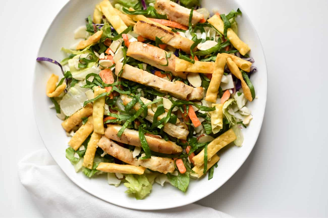 kid friendly asian salad grilled chicken