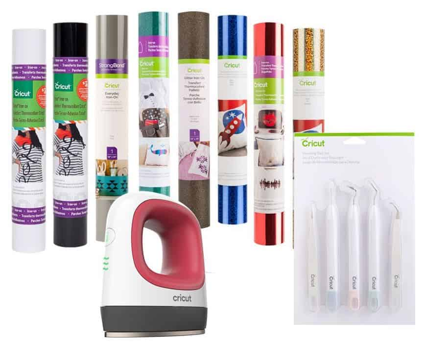 Easypress Mini Cricut bundle with vinyl and tools