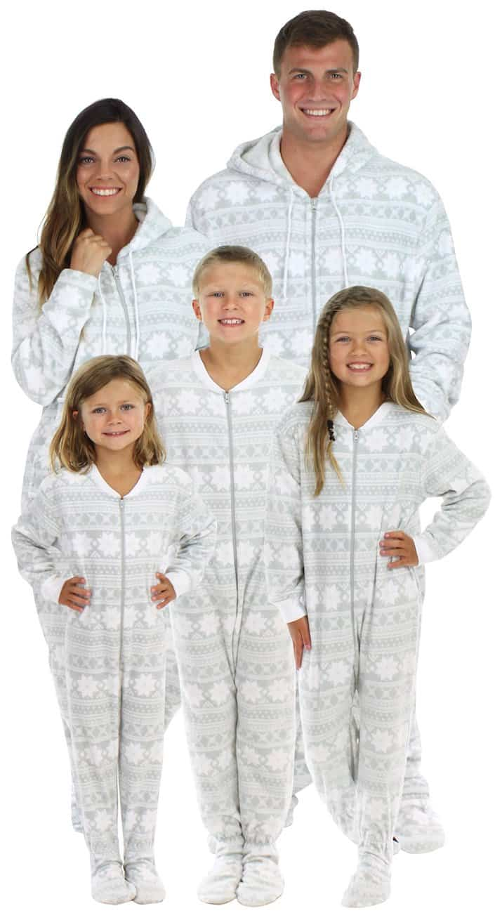Christmas footie pajamas for the family