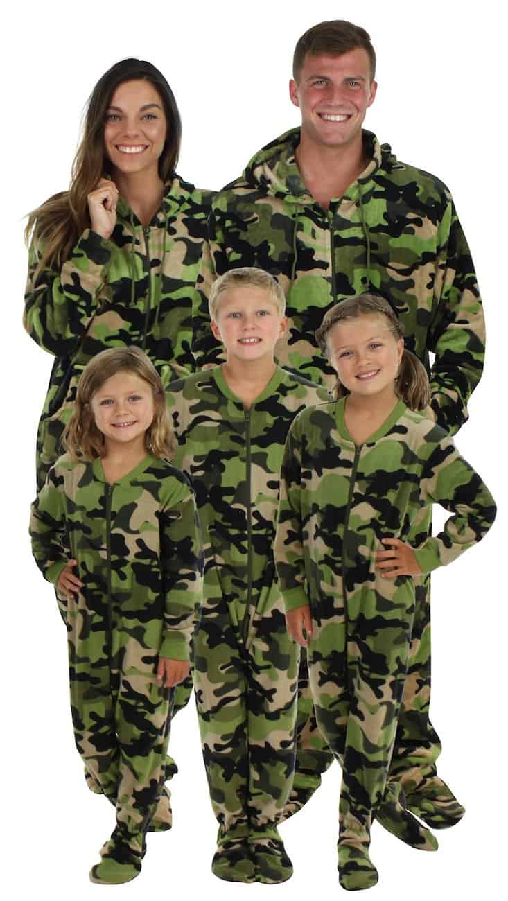 matching footie pajamas for the family
